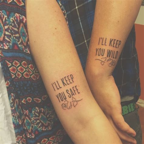 matching tattoos on