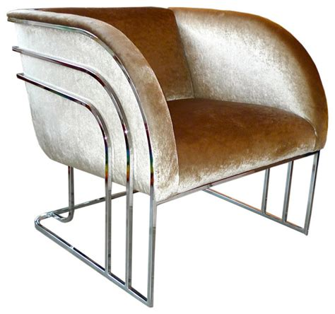 modern art deco furniture milo baughman chrome art deco club chair modern