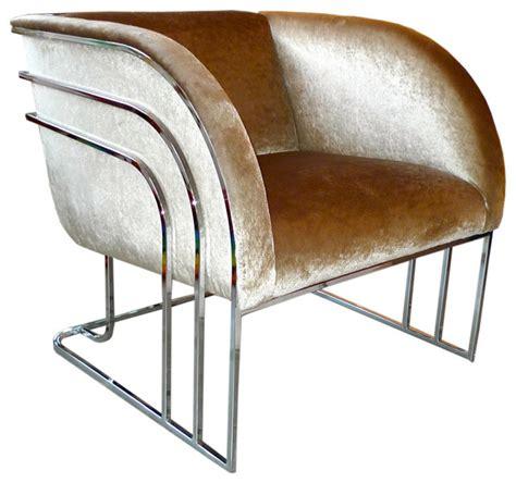 modern art deco sofa milo baughman chrome art deco club chair modern