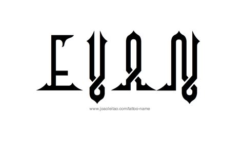 evan tattoo evan name designs