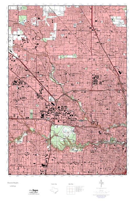 usgs topo maps texas mytopo houston heights texas usgs topo map