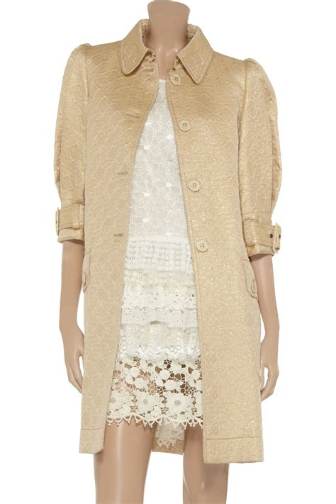 Versace Metallic Jacquard Snap Out Of It Bag by Lyst Valentino Metallic Jacquard Coat In Metallic