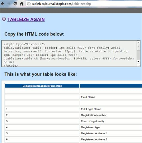 Convert Spreadsheet To Web Application by How To Easily Convert A Spreadsheet To Html Tips