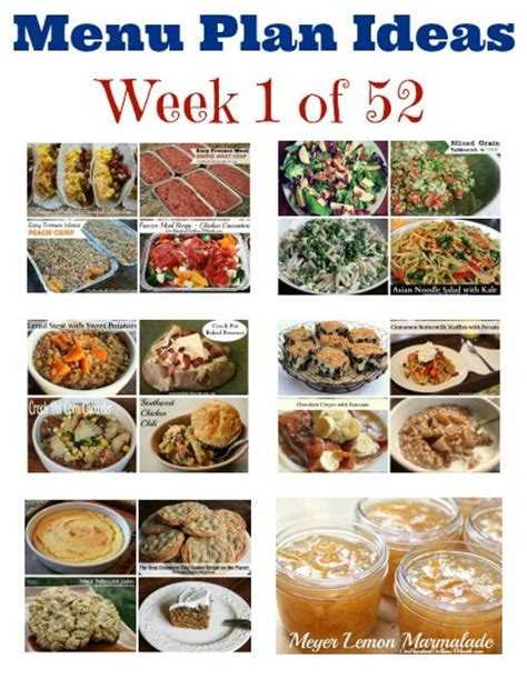 s weekly meal planner a 52 week menu planner with grocery list for planning your meals s cooking series volume 1 books weekly meal plan menu plan ideas week 1 of 52 one