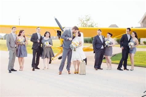 airplane hanger wedding roxy daniel rock  roll bride