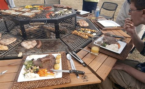 bbq grill picnic table everyone s the grillmaster at this bbq picnic table