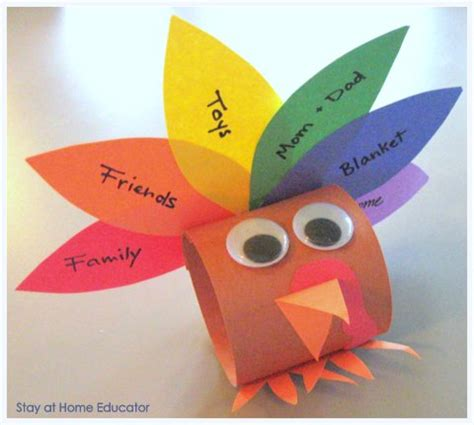 Construction Paper Crafts For Kindergarten - preschool co op thanksgving activities