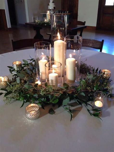simple  elegant winter wedding candlelight ambiance