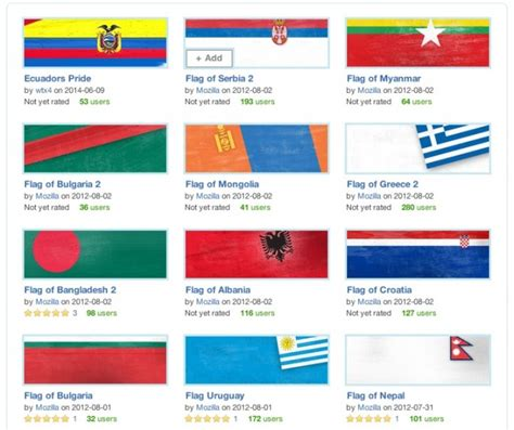 themes mozilla firefox gallery support your world cup team with country flag themes