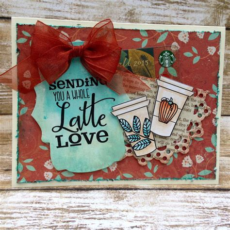 Fall Gift Cards - sewpaperpaint fall coffee lovers gift card holder card
