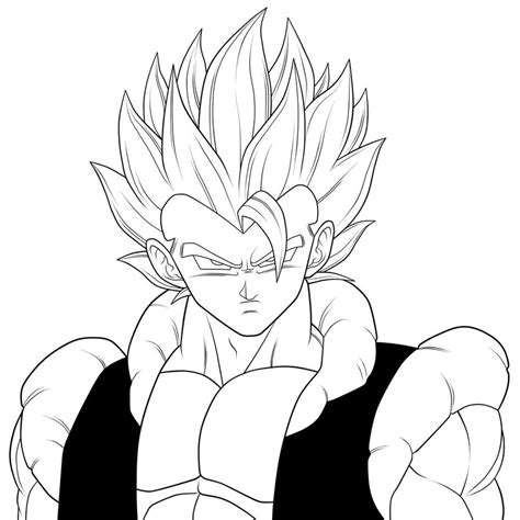 super gogeta lineart by moxie2d on deviantart
