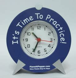 clock it s time to practice blue j w pepper sheet music
