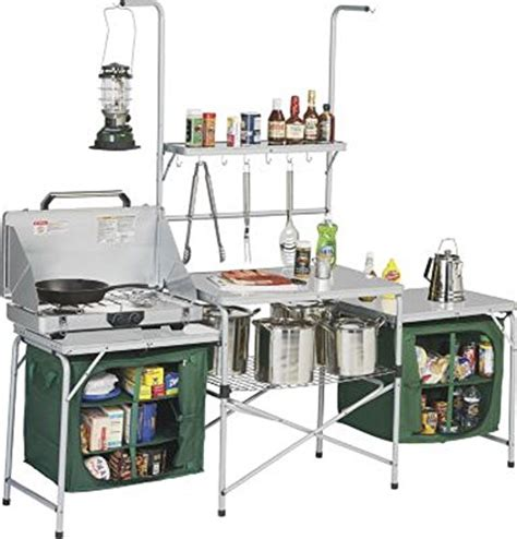 outdoor deluxe portable cing kitchen with pvc sink