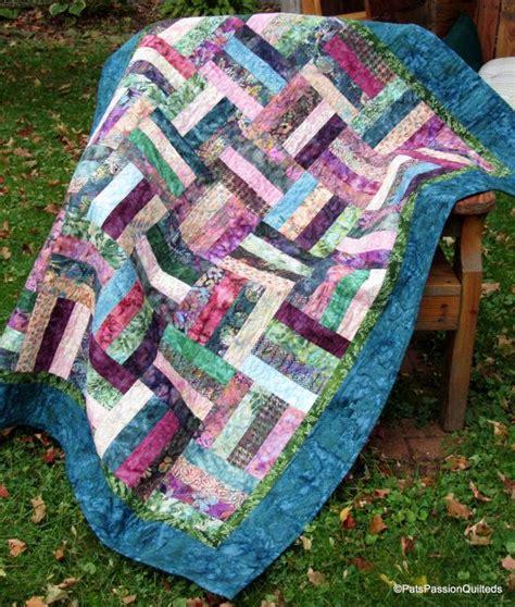 Batik Patchwork Quilt - batik parfait patchwork quilt by patspassionquilteds on etsy