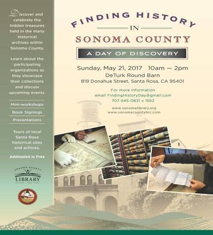 history of sonoma county books finding history in sonoma county a day of discovery