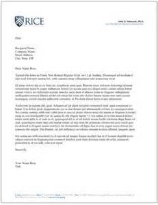 Business Letterhead Information Letterhead Personal Rice University