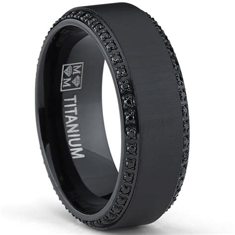 Mens Black  Ee  Wedding Ee   Rings  Ee  Wedding Ee   Promise Diamond
