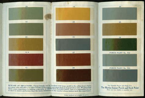 senour s floor paint chip chart folder ca 1920s martin senour