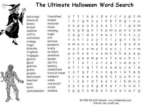 printable halloween word search difficult 5 hard halloween word searches