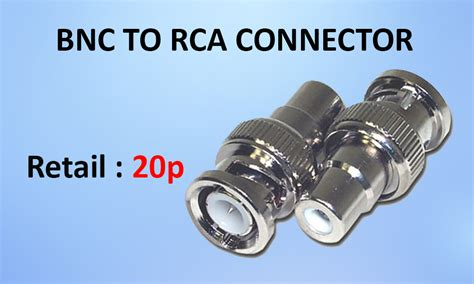 Connector Rca To Bnc bnc to rca connector