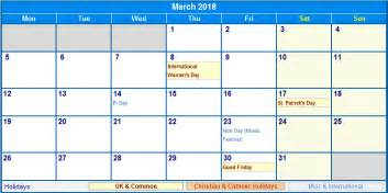 Calendar 2018 Holidays South Africa March 2018 Calendar With Holidays South Africa Calendar