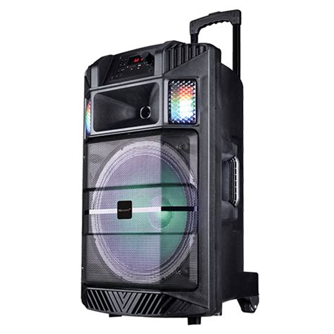 portable bluetooth speakers with lights 15 quot portable bluetooth 174 dj speaker with disco light efect