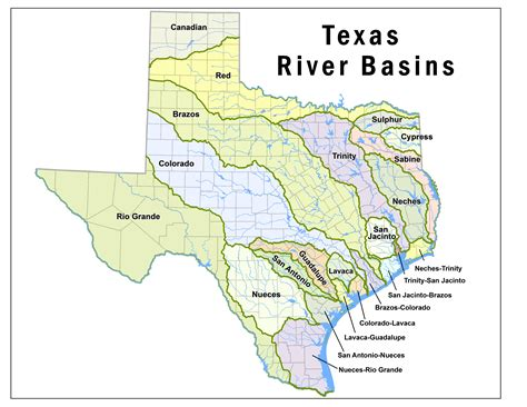 texas rivers and lakes map texas lakes and rivers map pictures to pin on pinsdaddy
