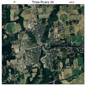 Three Rivers Michigan Map by Aerial Photography Map Of Three Rivers Mi Michigan