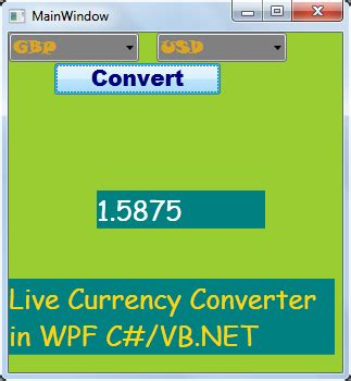 converter xaml asp net 4 tutorials consuming the live currency