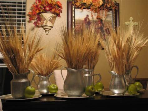 Green Silver Yellow Centerpiece Fall Wedding Flowers Dried Wheat Centerpieces