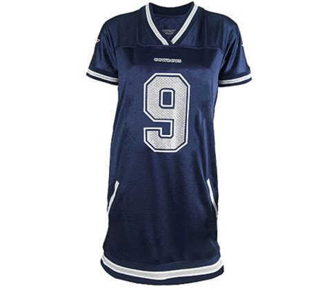 Drss 1147 Gamis Jersey Susun nfl dallas cowboys tony romo womens jersey dress