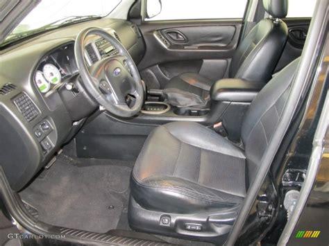 black interior 2005 ford escape limited photo