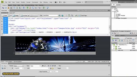 css tutorial with dreamweaver inserting div tags and css rule definition dreamweaver
