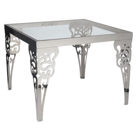 home design zymeth aluminum table l contemporary metal table with unique design for home