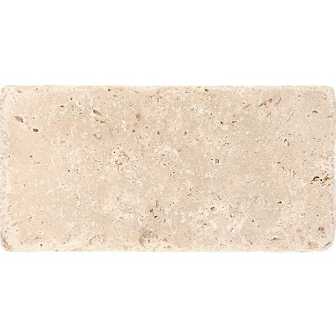 ivory tumbled travertine tiles 3x6 marble system inc