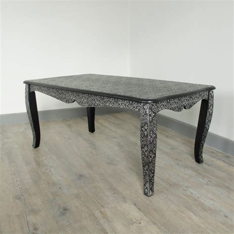 black silver vintage style coffee table home furniture