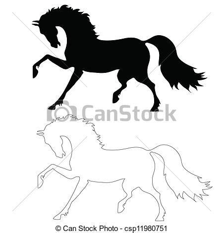 imagenes a blanco y negro de caballos clipart vectorial de movimiento caballo negro el