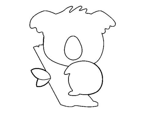 dibujos para colorear koala dibujo de koala beb 233 para colorear dibujos net