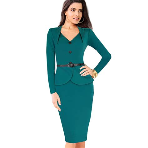 robe de bureau plus size sleeve winter dress autumn knee