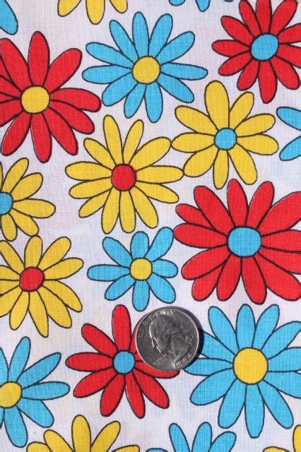 Cotton Light Lu Hias Aqua White Yellow 60s flower power flowers ideas for review