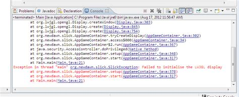 themes java wap run time error in java slick2d project while using