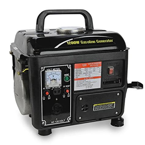 1200watt portable gasoline power generator emergency