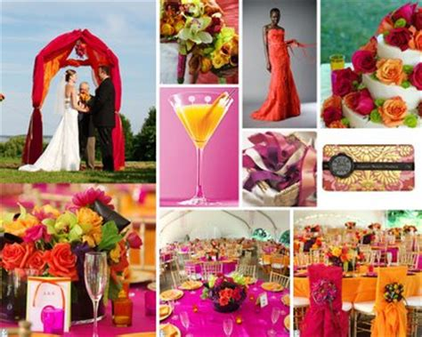 what color pallette goes best with fuschia weddingbee