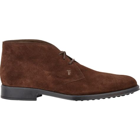 Sepatu Toods Denim Boot tod s suede chukka boots in brown for lyst