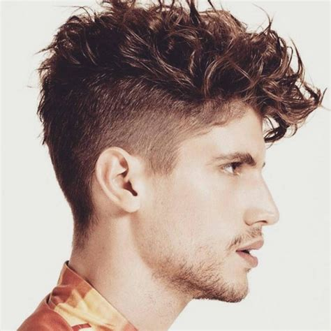 short curly top hair with straight sides 19 messy and curly top haircut hairstyle men personal