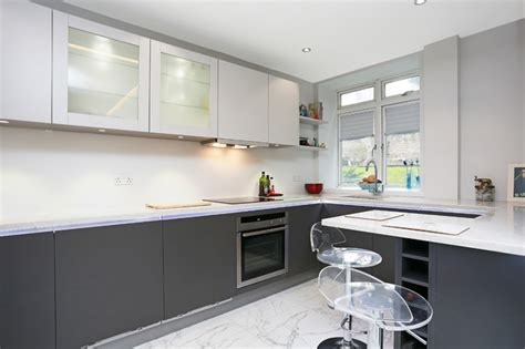 small kitchen design by lwk kitchens london modern small two tone kitchen modern kitchen london by