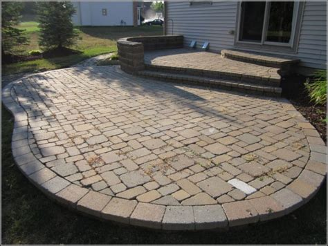 Simple Patio Ideas With Pavers Patios Home Decorating Easy Paver Patio