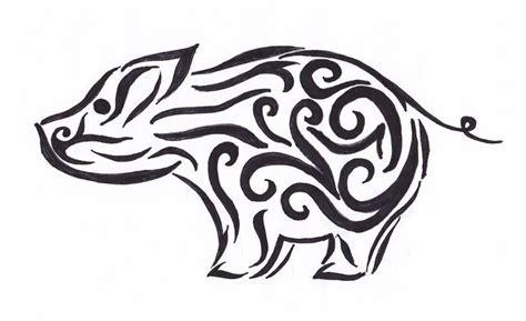tribal boar tattoo tribal pig by pianopainter00 on deviantart