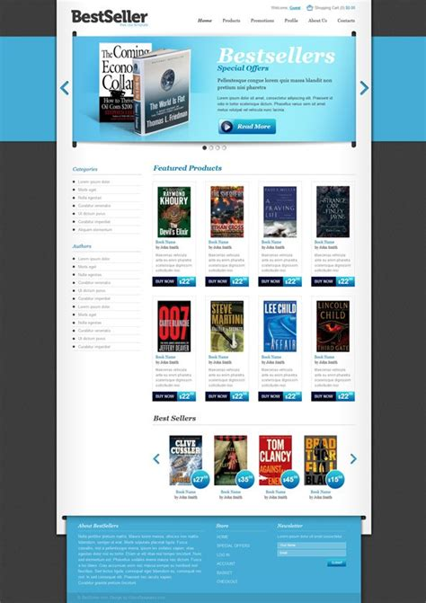 free book store ecommerce template website css templates