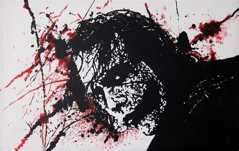 how to splatter acrylic paint on a canvas joker splatter acrylic painting by milo shavenreu in
